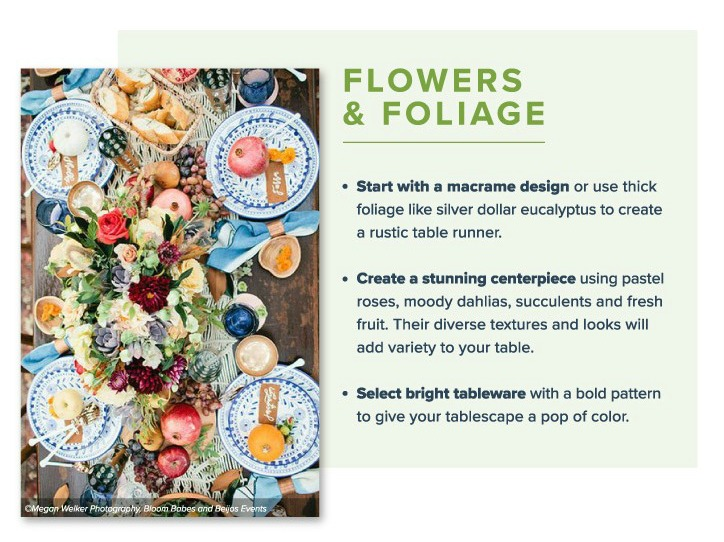 Great Friendsgiving ideas from Proflowers including tablesettings, menus, decor, and invitations