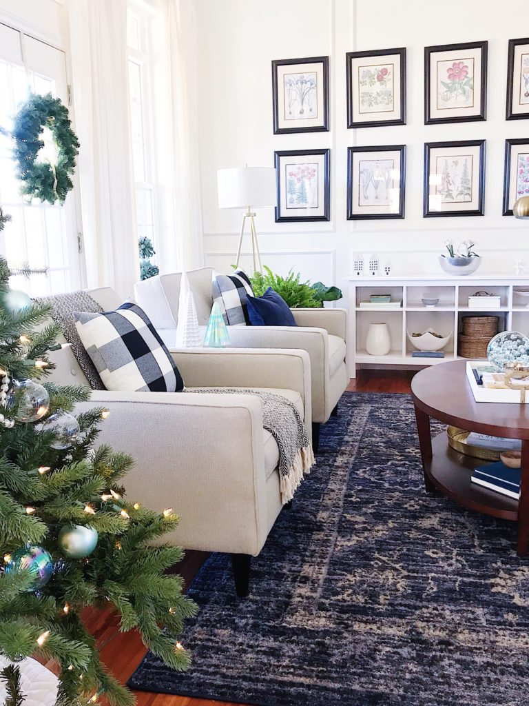 Blue And White Christmas Home Tour Easy Christmas Decorating Tips Jane At Home